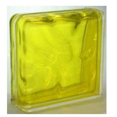 """Завершающий стеклоблок """"Желтый"""""""