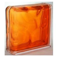 """Завершающий стеклоблок """"Оранжевый"""""""